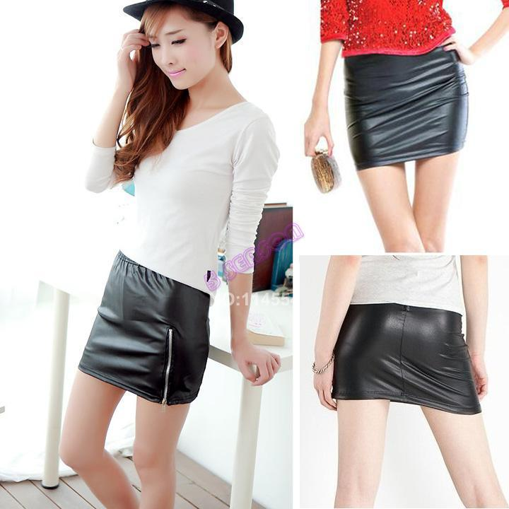 HOT SALE New Womens Short Skirt Korea Sexy Stylish Slim Synthetic ...