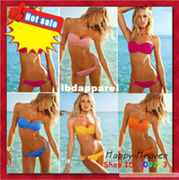 Wholesale swimsuits for women sexy bikini set with PAD amp ladies beach swim suits swimwear beachwear discount bathing suits