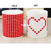 Wholesale Color changing mugs creative DIY custom personality made gift cup photos couples magic mug printed images discoloration cup