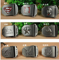 Wholesale Brand New Fashion Casual Cross Pattern Mens Womens Unisex Buckles Stainless Steel Metal Buckle for Leather Canvas Fabric PU Belt