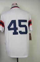 #45 Michael Jordan White Home 2014 Baseball Cool Base Jersey...