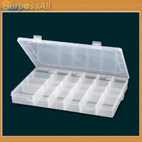 Plastic Sundries Folding (Free Shipping CPAM) 5PCS LOT Clear Acrylic Adjustable Pills Jewelry Bead Organizer 24 Grid Box Storage Container Case H-004