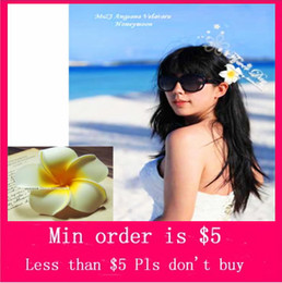 Wholesale Min Order Mix Jewelry order New Woman Fashion Plumeria Frangipani Yellow Flower Bobby Hair Pin Hairpin H0336