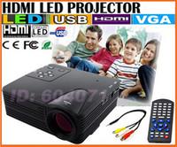 Wholesale SZDEVEC NEW LZ H80 LED Projector With HDMI AV VGA SD USB Digital Video Projectors Multimedia Player Home Portable mini Projector