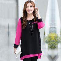 Women Polyester Ruffles New 2014 Hot Sale Comfortable Loose Women Full Sleeves Long Style Chiffon s Plus Size Women Top Shirts XL-XXXL