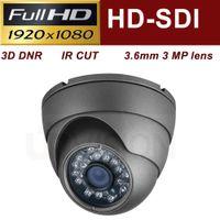 Wholesale Uinvision p HD SDI quot mega pixel cctv camera mm IR leds M IR Vandalproof dome security camera