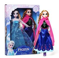 Wholesale 2014 New Fashion Cute Frozen Anna Elsa Mini Baby Doll Frozen Princesses Doll Action Figures Frozen Dolls Toys Classic Dolls cm