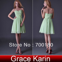 A-Line Model Pictures Scalloped Free Shipping Grace Karin Lime Green Strapless Bridesmaid Party Prom Ball Evening Cocktail Prom Dress CL3473