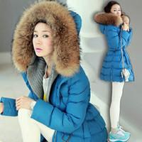 Down Coats Women Down Women Coats Winter Fashion 2014 Duck Down Jacket Womens Thick Fur Collar Squirrel Down Bubble Coats Big Size Free Shipping B9