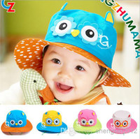 Unisex Spring / Autumn Visor Wholesale - Free shipping child cap baby hat spring and summer bucket hats sunbonnet beach cap for 1-4 years old