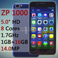 Cheap Original ZOPO ZP1000 MTK6592 Octa Core Mobile Phone 1GB RAM 16GB ROM 5.0 Inch HD IPS Android Cell Unlocked Smartphone 14.0MP GPS