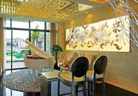 3 шт искусства стены установлены современная картина абстрактной живописи маслом декора стены холст картины для гостиной белых магнолий красивый цветок