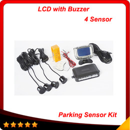 4 Sensors 22mm Buzzer LCD Parking Sensor Kit Display Car Reverse Backup Radar Monitor System 12V free shipping