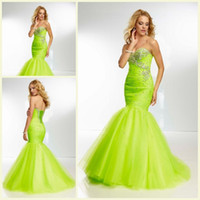 Wholesale BH Newest Sweetheart Neckline Floor Length Evening Party Formals Gowns Prom Dresses Customized Beaded Mermaid