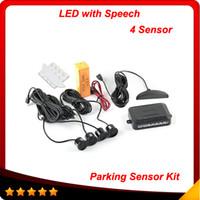 backup sensor system - 4 Sensors mm Backlight Display Reverse Backup Radar Monitor System Car LED Parking Sensor Kit V