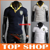 Men Cotton Polo Wholesale - Fashion Polo T Shirts Mens Short Sleeve 3Color M L XL XXL 100% Cotton Embroidery NYPD New York Police Department Summer Slim T-S