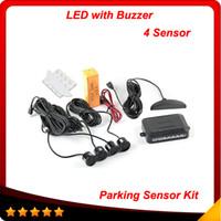 Wholesale Car LED Parking Sensor Kit Sensors No Drill Hole Saw mm Display Reverse Backup Radar Monitor System