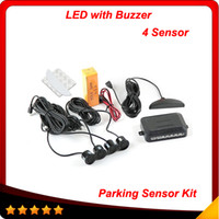 Car LED Parking Sensor Kit 4 Sensors No Drill Hole Saw 22mm ...