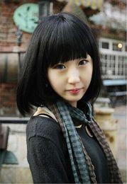 Wholesale Touhou Project Shameimaru Aya Medium Length Black Cosplay Wig Short Long Bob Synthetic Wig Discount Synthetic Wig top sale