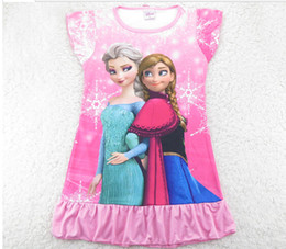 Frozen ice Romance snow adventure cartoon girls pajamas nightgown selling children's clothes frozen dress in Europe and America