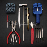 Wholesale pc Adjust Watch Back Case Spring Bar Remover Opener Repair Tool Kit Set Fix Pin Link Remover For Watchmaker