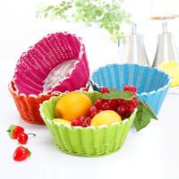 Wholesale Green home house creative cute hand woven baskets of fruit debris Storage basket SN0030