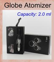 Verre Oil Dome Globe Wax Vaporisateur Globe ampoule atomiseur Cire Vaporisateur pour eGo Series E Cigarette expédition DHL Gratuit Battery atb004
