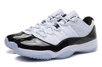 Wholesale 2014 NEW Sports Shoes Retro XI Concords Low Basketball Shoes Mens Sneakers Air Athletic Shoes White Black Super A Restock SIZE