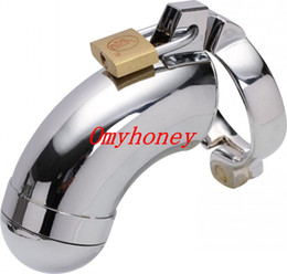 Wholesale - Male Chastity Devices Bondage Stainless Steel Lockable Cock Ring Penis Cage 3 Rings to choose; Penis Cage Dildo Cage M600