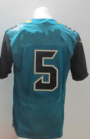Free Shipping #5 Bortles Teal Green 2014 American Football E...