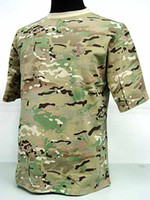 Wholesale Army Military Tactical Camouflage Short Sleeve T Shirt Outdoor Hiking Fishing Hunting T Shirts Camo Woodland Multi Camo Tiger Stripe Camo