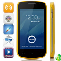 Wholesale New Arrival Doogee Collo DG110 quot Android IPS MTK6572 Dual Core SIM Ghz G Smart Phone Cell Phone Built in Wifi Bluetooth GPS