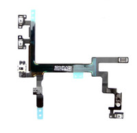 Wholesale Ribbon Flex Cable Replacement Parts for iPhone g s Power Mute Button Volume Silent Switch on off Connector Cord Mic Microphone Repair