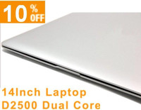Wholesale fedex dhl HOT CHEAP inch Ultrathin Windows Laptop HDD gb Intel Atom D2500 Dual Core GHz Webcam