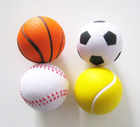 Balls Big Kids unisex free shipping ,4pcs lot 6.3cm sport stress ball,pu basketball,pu baseball,squeeze ball ,anti stress ball ,squeeze ball,hand exercise ball