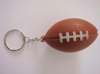 Wholesale pu foam material soccer keychain pu American football keychain