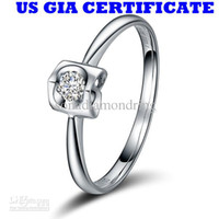 Wholesale Luxury US GIA certificate ct moissanite engagement rings for women K white gold angel love diamond rings for women