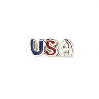 Wholesale Colorful USA Floating Charms For Origami Owl Glass Lockets
