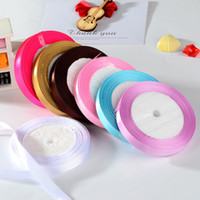 Wholesale solid color quot mm satin ribbons ribbon belt gift packing wedding decoration yards roll min order mixed colors available