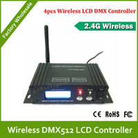 Wholesale DHL LCD wireless DMX512 Receiver amp Transmitter for stage light