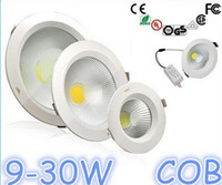 Wholesale NEW Super Bright quot quot quot quot quot quot Led Down Light W W W W W W COB Dimmable Led Recessed Downlight Angle Warm Cool White