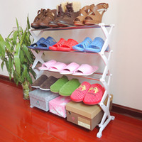Wholesale Home home export quality stainless steel shoe rack shoe storage rack three five E8989