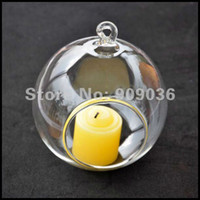 Wholesale cm hanging glass candle holders vase glass christmas ball hanging wedding party holiday decoration ball