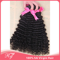 Wholesale RY popular products A human remy hair peruvian virgin hair deep wave top quality length inch can be dyed any color