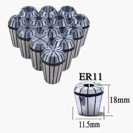 Wholesale Brand New piece set mm mm Silver ER11 Spring Collet Set For CNC Milling Engraving Machine Set