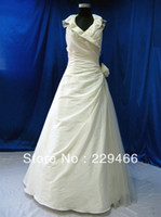 Other Reference Images Halter Real Sample White Ruffle Flower Halter Ball Gown New Model Wedding gown Bridal Dress 2014