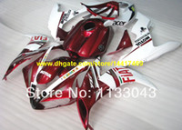 For Yamaha fairing r1 - Injection moldRed white ABS fairing kit for Yamaha YZF R1 YZF R1 YZF1000 YZF R1 Fairings
