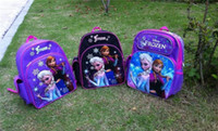 Wholesale 2014 new frozen doll backpack for boys and girls frozen bag for gift frozen anna cute cartoon bags and school bag