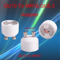 Wholesale 10pcs EB3417 GU10 Male to MR16 Female Socket Base LED Halogen CFL Light Bulb Lamp Adapter