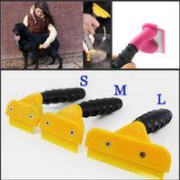 Wholesale Professional Pet Dog Cat Grooming Shedding Hair Tool Magic Dog Hair Removal Brush Comb Pet Rakes S M L Size